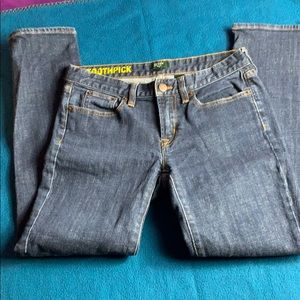J Crew Tooth Pick Blue Jeans
